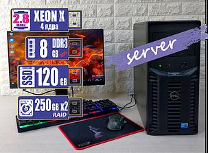 Сервер PowerEdge T110 intel Xeon x 3430/8GB/SSD120GB+HDD250Gbx2 RAID, фото 2
