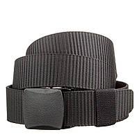 Стильный текстильный мужской ремень Vintage 20228 Черный, фото 1