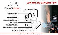 Велорукавички PowerPlay 5028 C Чорно-блакитні M (FO835028D_M_Blue)