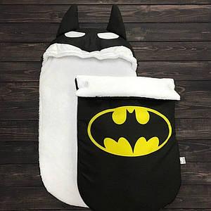 Конверт для новорожденных Зимний Kokon plus на выписку из роддома конверт-кокон Batman