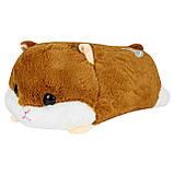 Подушка игрушка плед Хомячок, плюшевая декоративная подушка-плед Хомяк 3в1, фото 2