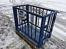 Весы для взвешивания животных VTP 1000 кг 750х1250 мм (с клеткой 900 мм), фото 2
