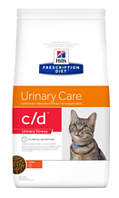 Лечебный корм для кошек HILL'S (Хиллс) PD Feline C/D Urinary Stress при струвитах, циститах, стрессах