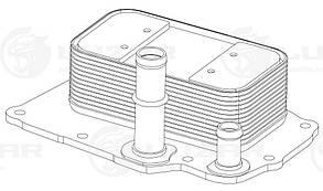 Радиатор охл. масл. для а/м SsangYong New Actyon/Korando C (10-) 2.0D (LOc 1755) LUZAR 6711800265