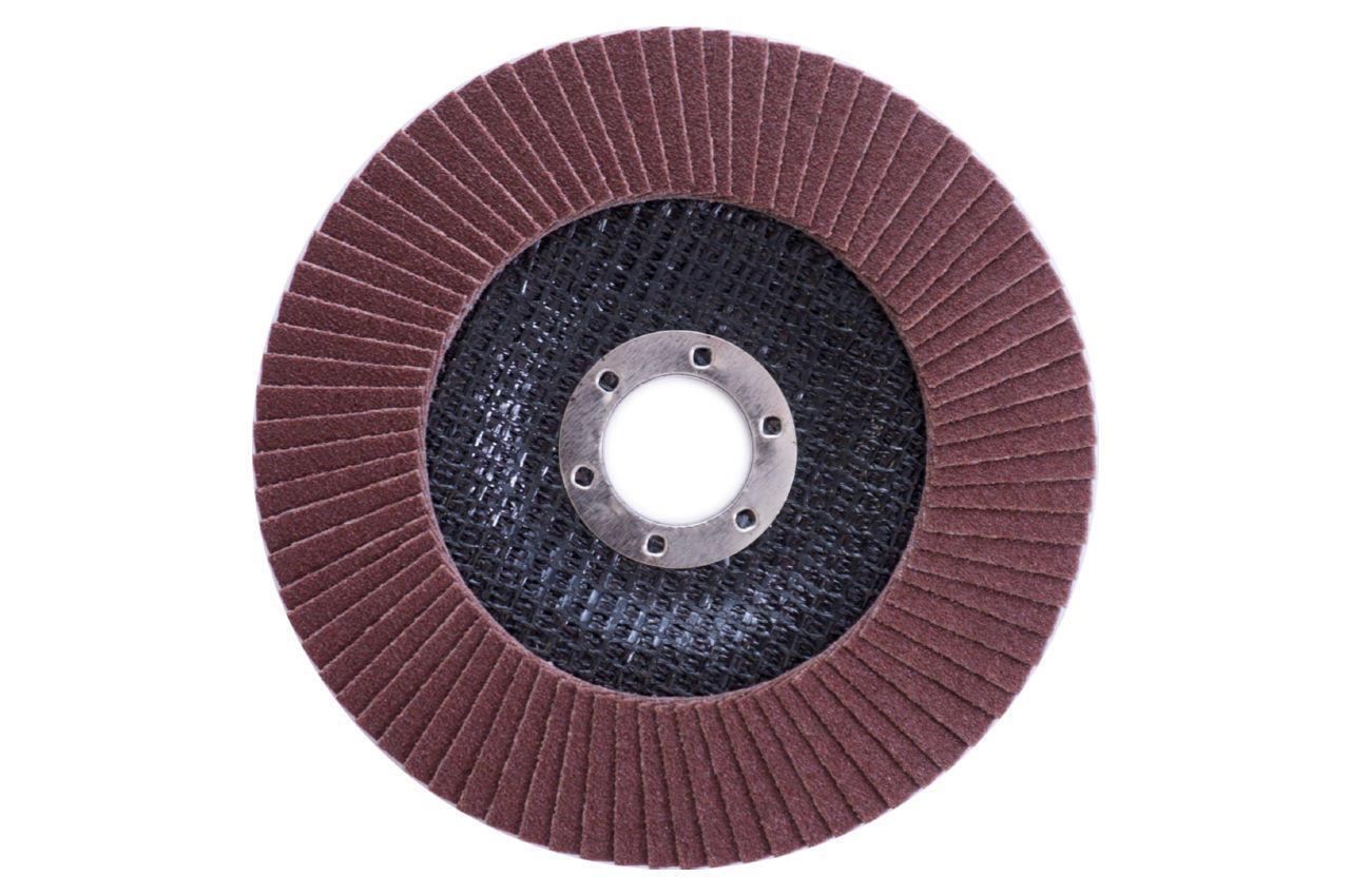 Круг лепестковый торцевой Apro - 125мм x Р150 изогнутый