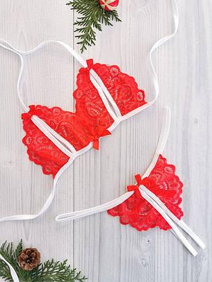 Сексуальное кружевное белье стринги и лиф с вырезами. Размеры от XS до XXL, фото 2