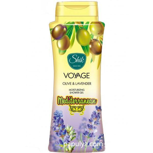 Увлажняющий и смягчающий гель для душа ШИК VOYAGE Olive & Lavender 600 мл