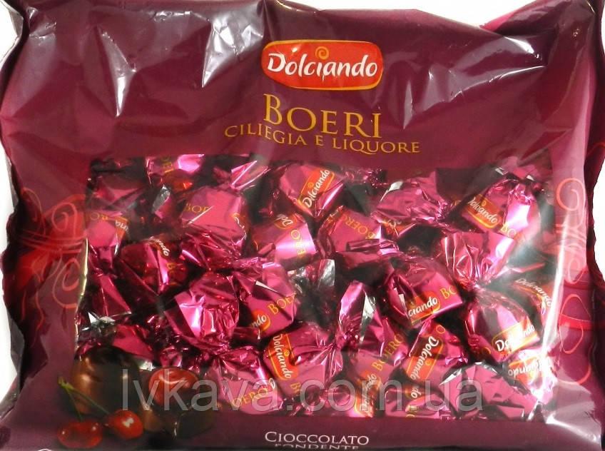 Шоколадные  конфеты с вишней и ликером Boeri Dolciando  , 1000 гр