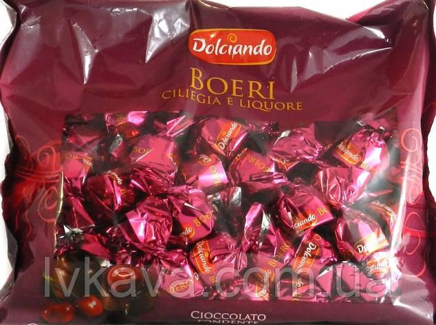 Шоколадные  конфеты с вишней и ликером Boeri Dolciando  , 1000 гр, фото 2