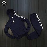 Мужской зимний спортивный костюм адидас три полоски/Adidas