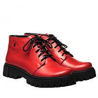Ботинки La Rose 2328 36(23,4см) Красная кожа ЗИМНИЕ, фото 1