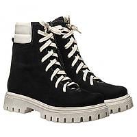 Ботинки La Rose 2331 36(23,4см) Черный нубук ЗИМНИЕ, фото 1