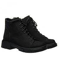 Ботинки La Rose 2333 36(24см) Черный нубук ЗИМНИЕ, фото 1