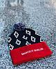 Модная шапка с бубоном марсело бурлон/Marcelo burlon