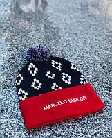 Модная шапка с бубоном марсело бурлон/Marcelo burlon, фото 1
