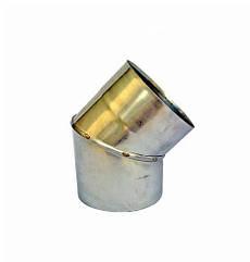 Одностінні Коліно 45° Ø120 мм із нержавіючої сталі