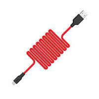 Зарядка USB кабель Hoco X21 USB для Huawei P40 Lite Е micro USB Red