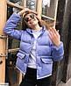 Жіноча модна коротка куртка пуховик з кишенями, фото 6