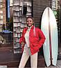 Жіноча модна коротка куртка пуховик з кишенями, фото 7