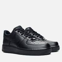 Кроссовки мужские Nike Air Force Low (в стиле найк форс) черные
