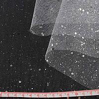 Фатин жорсткий з блискітками білий ш.160 (14831.001)