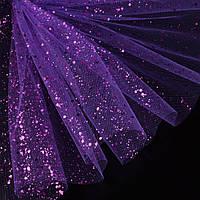Фатин жорсткий з блискітками фіолетовий яскравий ш.160 (14831.010)