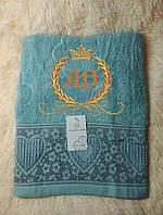 Полотенце с новогодней вышивкой. Размер 50 см х 100 см., фото 1