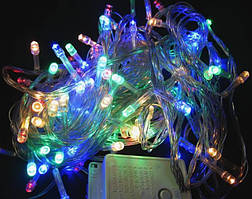 Гирлянда светодиодная электрическая LED 200L 12м разноцветная