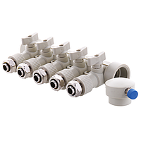 KOER PPR Коллектор распределительный 5-way с фитингом (40x20) (K0193.PRO) (13 шт/ящ)