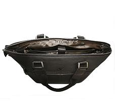 Сумка Tony Perotti кожаная Contatto 9649-37 moro коричневый, фото 3