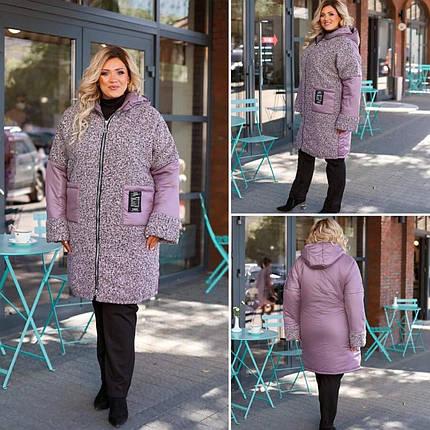 """Стильная куртка-пальто, наполнитель Синтепон 250, ткань """"Плащевка"""" 60, 64, 68 размер 60, фото 2"""