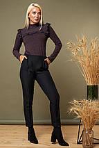 Женская Коричневая блузка с рюшами, фото 3