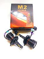 Світлодіодні LED автолампи M2, H4, CREE, 28Вт, 9-32В, 6000Lm, 6500K, фото 1
