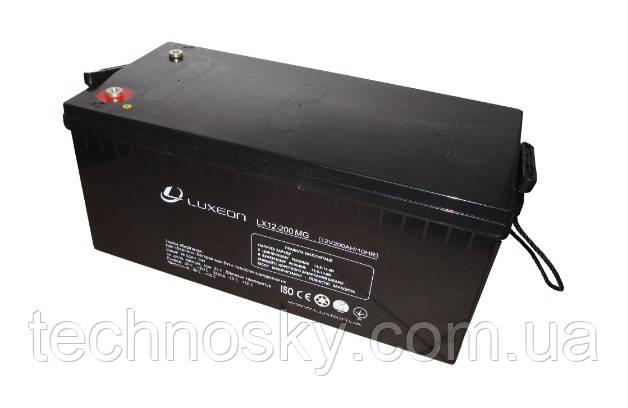Аккумулятор мультигелевый AGM Luxeon LX 12-200MG
