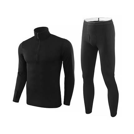 Спортивное термобелье Lesko A154 M Black для активного отдыха мужское термо костюм, фото 2