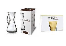 Набір Кемекс Chemex 3 cup (473 мл) + Фільтри FP-2N (100 шт)