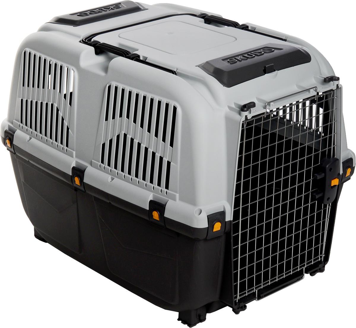 Переноска пластикова СКУДО 6 SKUDO 6 IATA для собак вагою до 40 кг, 92 * 63 * 70 см