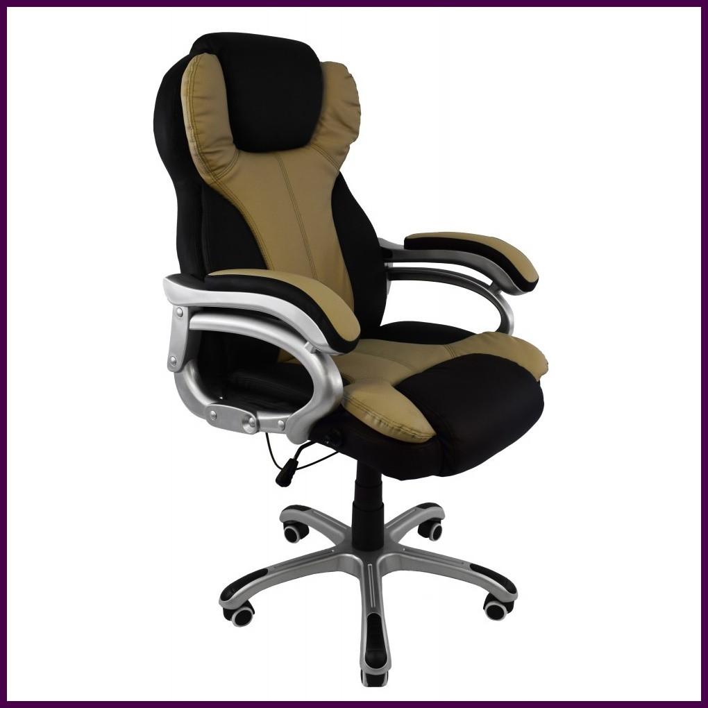 Крісло комп'ютерне FARO 08074 Еко-шкіра Чорно-бежеве ГАРАНТІЯ