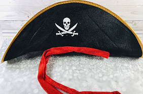 Шляпа Корсар Пират мягкая, детская пиратская шляпа