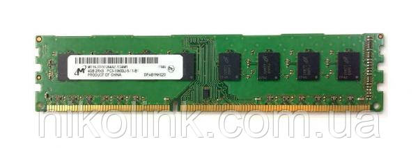 Память Micron DDR3 4GB PC3-10600U (1333Mhz) (MT16JTF51264AZ-1G4M1)(8x2), б/у