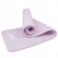 Коврик (мат) для йоги и фитнеса Springos NBR 1 см YG0038 Purple