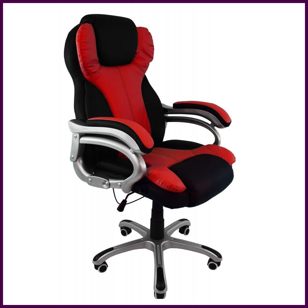 Кресло компьютерное FARO 08074 Эко-кожа  Черно-красное ГАРАНТИЯ