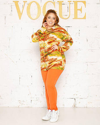 """Стильний жіночий прогулянковий костюм Кофта+штани """"М'який Трикотаж+Креп Дайвінг"""" 54, 58 розмір 54, фото 2"""