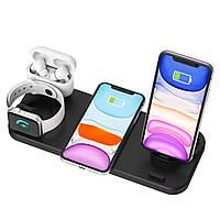 Док-станция 6в1 Fast Charger D6 для iPhone, Samsung, Xiaomi, Apple Watch, AirPods Универсальная Black