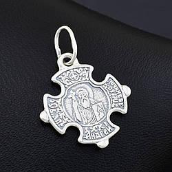 Серебряный крестик Андрей Первозванный размер 30х22 мм вес 2.8 г