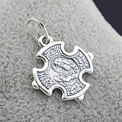 Серебряный крестик Иоанн Предтеча размер 30х22 мм вес 3.01 г