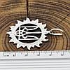 Серебряный кулон Тризуб размер 39х39 мм вес 5.56 г, фото 3