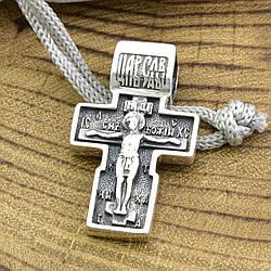 Серебряный крест с чернением 899БС размер 31х18 мм вес 5.8 г