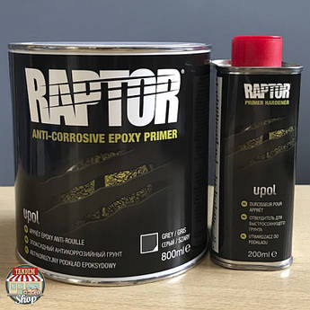 Грунт эпоксидный антикоррозийный U-POL RAPTOR™ 4:1, 1 л Комплект