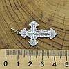 Серебряный крестик с чернением Православный размер 40х22 мм вес 3.1 г, фото 2